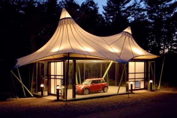 Big Tent Garages : Wacky weird and wonderful garages